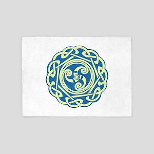 Celtic Spiral 5'x7'Area Rug