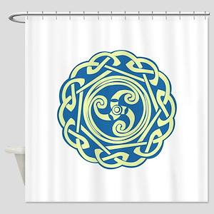 Celtic Spiral Shower Curtain
