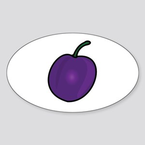 Plum Sticker (Oval)
