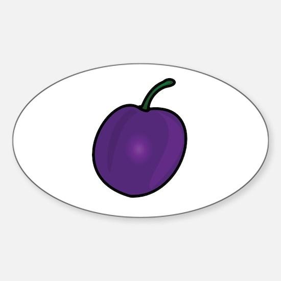 Plum Sticker (Oval)
