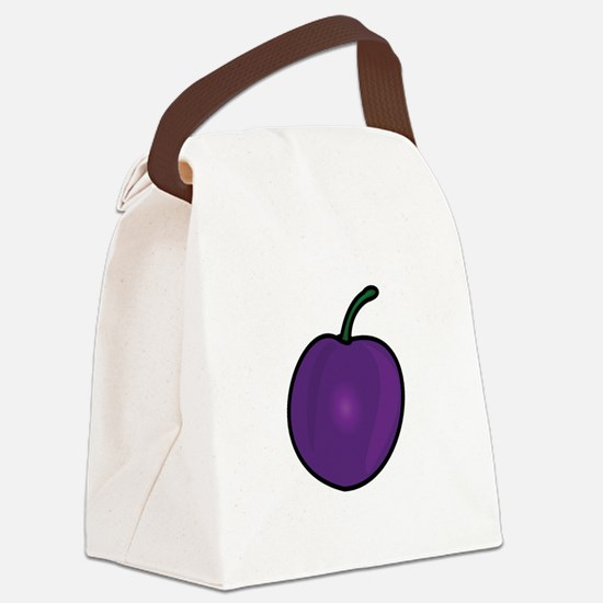 Plum Canvas Lunch Bag