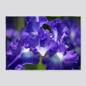 iris garden 5'x7'Area Rug