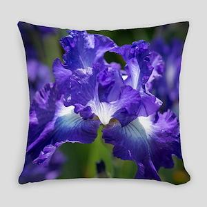 iris garden Everyday Pillow