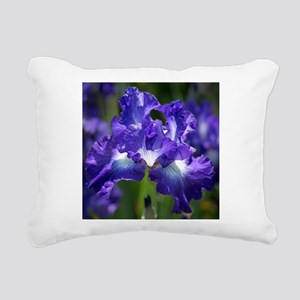 iris garden Rectangular Canvas Pillow