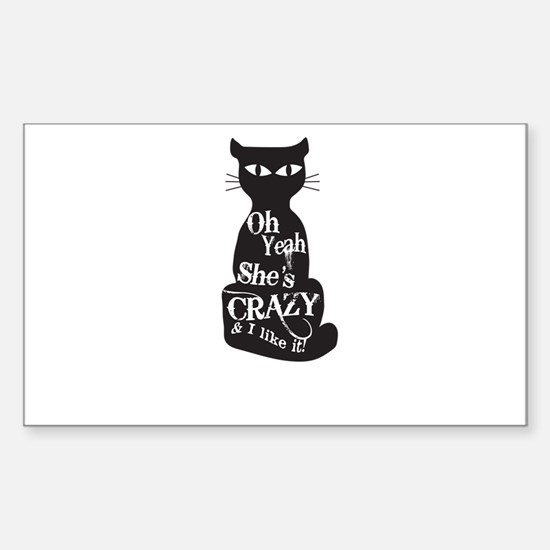Oh Yeah Shes Crazy Cat Lady Decal