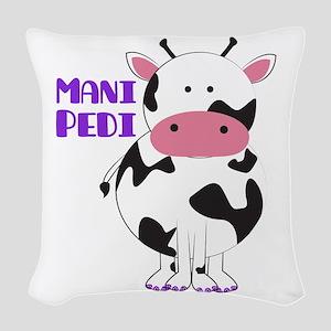 Mani Pedi Woven Throw Pillow