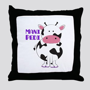 Mani Pedi Throw Pillow