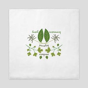 Various Herbs Queen Duvet