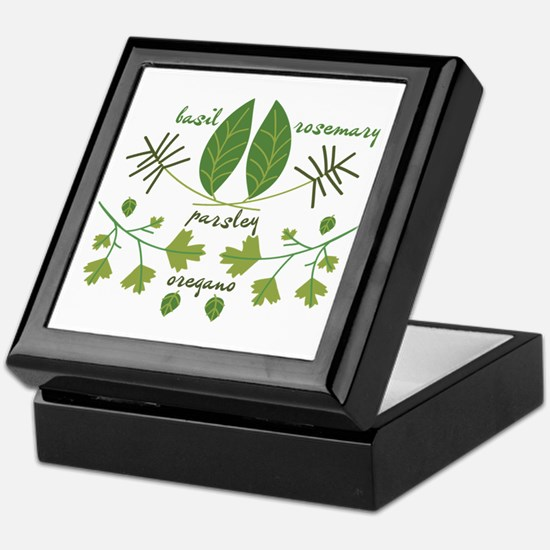 Various Herbs Keepsake Box