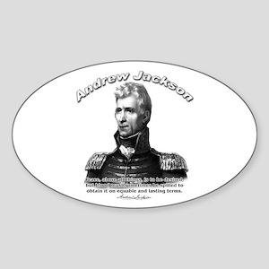 Andrew Jackson 01 Oval Sticker