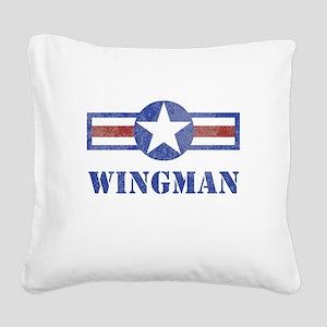 Wingman Square Canvas Pillow