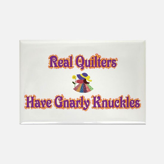 Quilters Gnarly Knuckles Rectangle Magnet