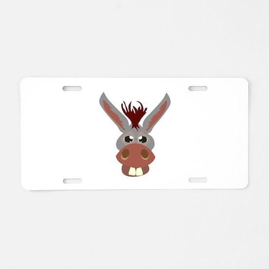 Donkey Face Aluminum License Plate