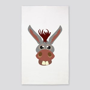Donkey Face 3'x5' Area Rug