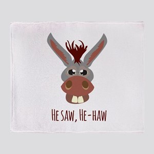 He - Haw Throw Blanket