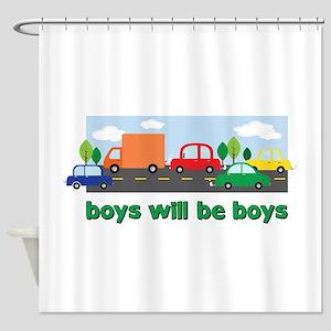 Boys Will Be Boys Shower Curtain