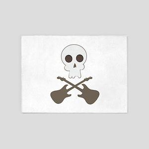 Skull & Guitar Bones 5'x7'Area Rug