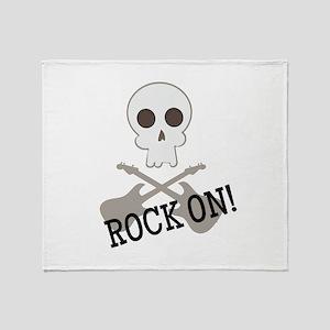 Rock On! Throw Blanket