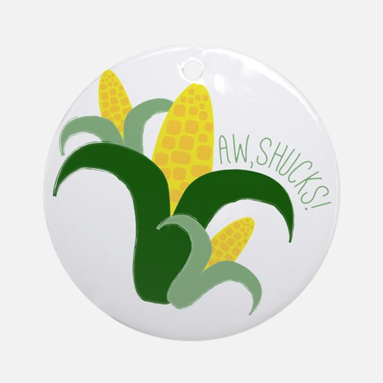 Aw, Shucks! Ornament (Round)