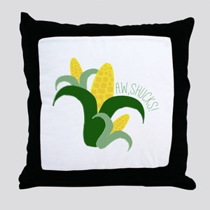 Aw, Shucks! Throw Pillow