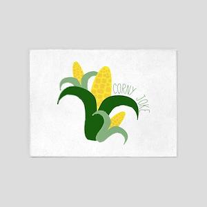 Corny Joke 5'x7'Area Rug