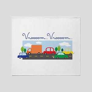 Vroooom Vroooom Throw Blanket