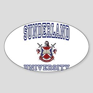 SUNDERLAND University Oval Sticker