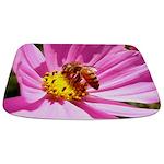 Bee on a Wildflower clla Bathmat