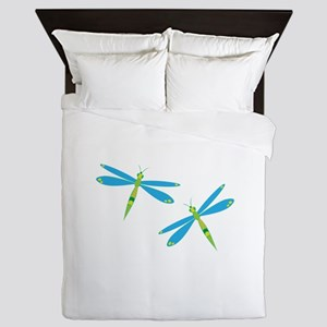 Dragonflies Queen Duvet