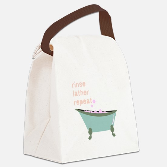 Rinse Lather Repeat Canvas Lunch Bag
