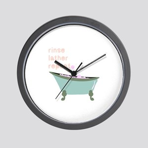 Rinse Lather Repeat Wall Clock