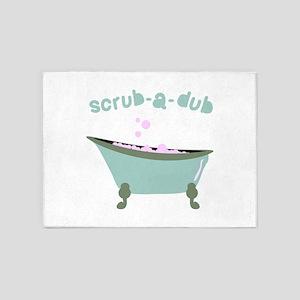 Scrub-a-dub Tub 5'x7'Area Rug