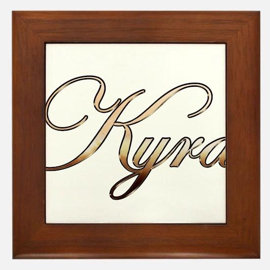 Cute Kyra Framed Tile