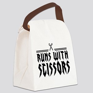 Run With Scissors Canvas Lunch Bag