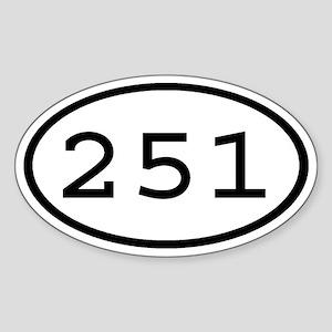 251 Oval Oval Sticker