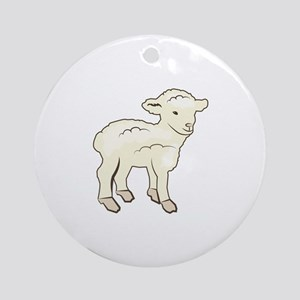 Little Lamb Ornament (Round)