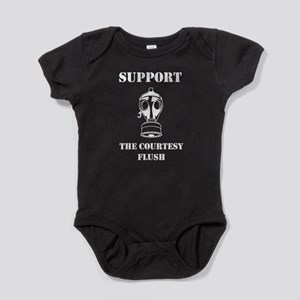 Support The Courtesy Flush Baby Bodysuit