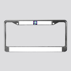Electrifying Cross License Plate Frame