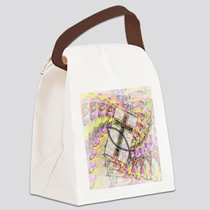 The Cross and the Fish. Canvas Lunch Bag