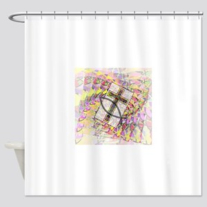 The Cross and the Fish. Shower Curtain