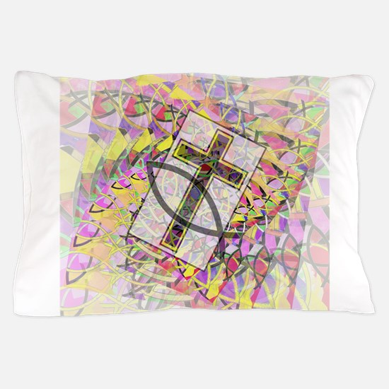 The Cross and the Fish. Pillow Case