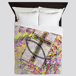 The Cross and the Fish. Queen Duvet