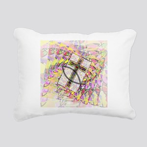 The Cross and the Fish. Rectangular Canvas Pillow