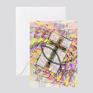 The Cross and the Fish. Greeting Cards