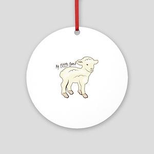My Little Lamb Ornament (Round)