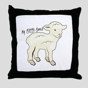 My Little Lamb Throw Pillow