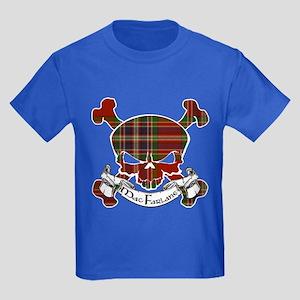 MacFarlane Tartan Skull Kids Dark T-Shirt
