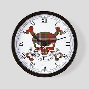 MacFarlane Tartan Skull Wall Clock