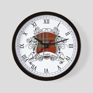 MacFarlane Tartan Shield Wall Clock