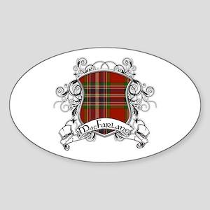 MacFarlane Tartan Shield Sticker (Oval)